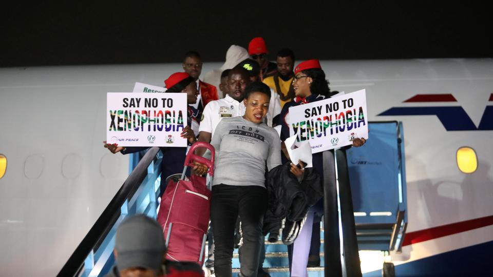 Nigerians Manifesting Against Xenophobia