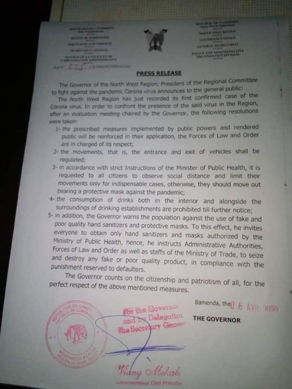 Bamenda Governor