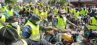 Moto bike men in Douala join the sensitization campaign