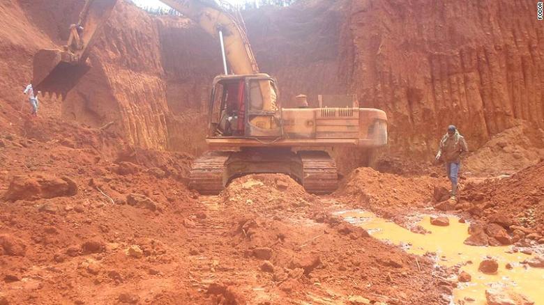 mine  landslide