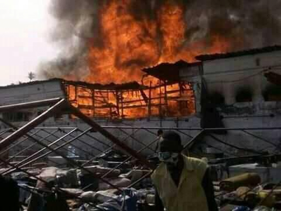 Douala Central prison in flames