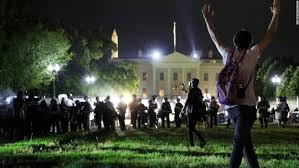 protest at the White House