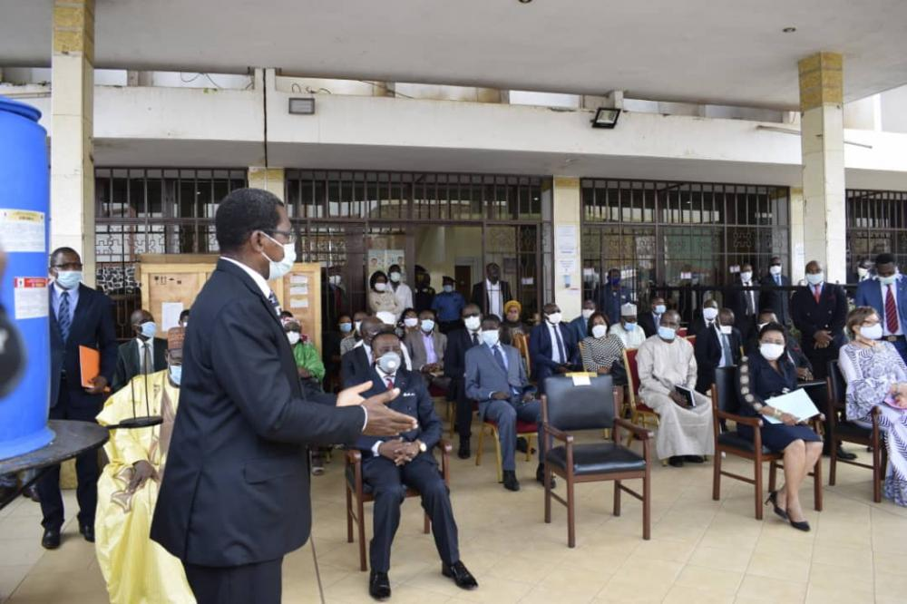 Donation of President Paul Biya`s Face masks to Educatioonal Ministries