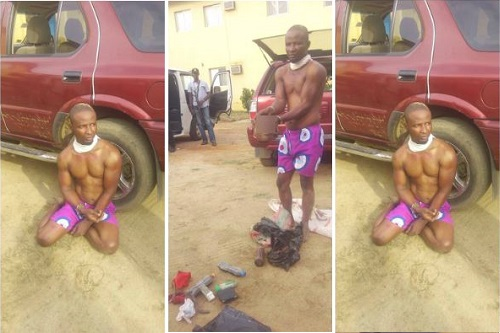 Man caught with human head