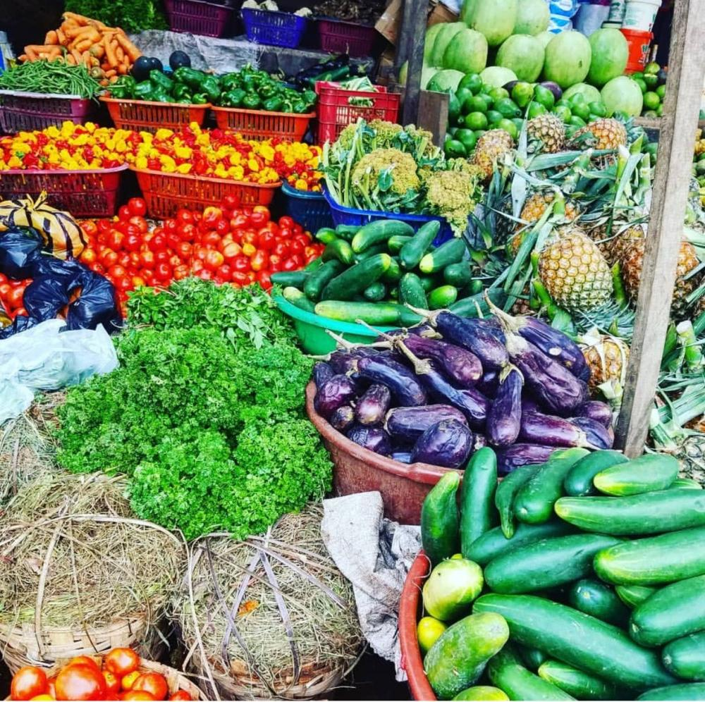 Vegetables in cameroon food market