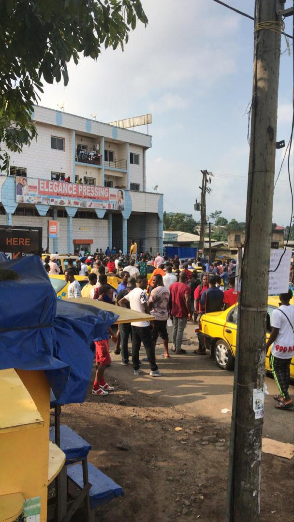 taxi drivers protest-buea