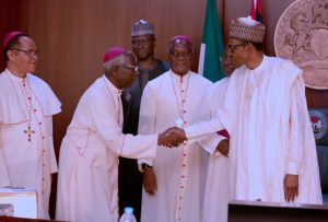 Catholic Bishops'  with Buhari