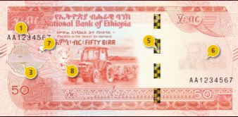 new bank note for ethiopia