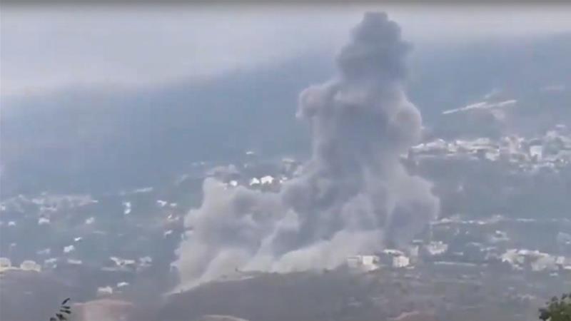 Ein Qana explosion