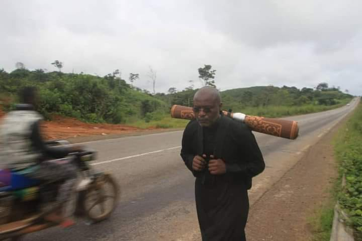 Rev. Ludovic Lado on a pilgrimage to end the Anglophone crisis.