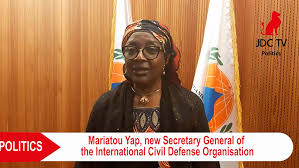 Cameroonian, Mariatou Yap, Director of Civil Protection at the Ministry of Territorial Administration (MINAT)elected as the Secretary General of the International Civil Defense Organization (ICDO)