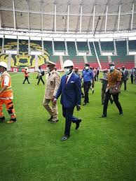 Cameroon's Minister of Sports and Physical Education, Narcisse Mouelle Kombi has continued his inspection tour to stadia that will host the African Nations Football championship (CHAN) 2021