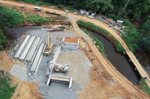 French firm Sogea-Satom has launched the construction of engineering structures on the Olama-Bigamdo National road No 22.