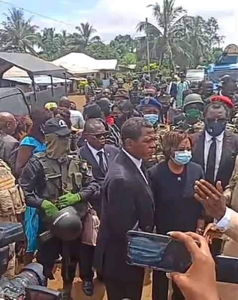 Interministerial team to Kumba massacre scene