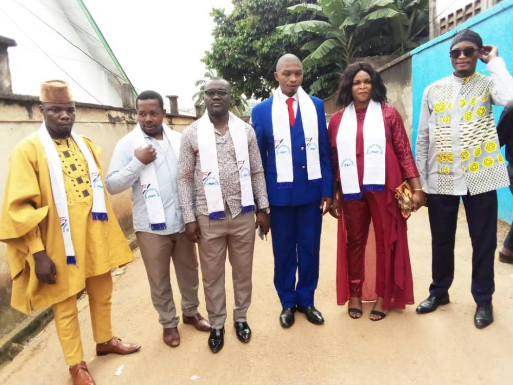 PAP Centre Regional Congress, National Bureau members at the Installation of the Yaounde VI Convention