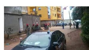 Military on guard at Kamto`s Residence