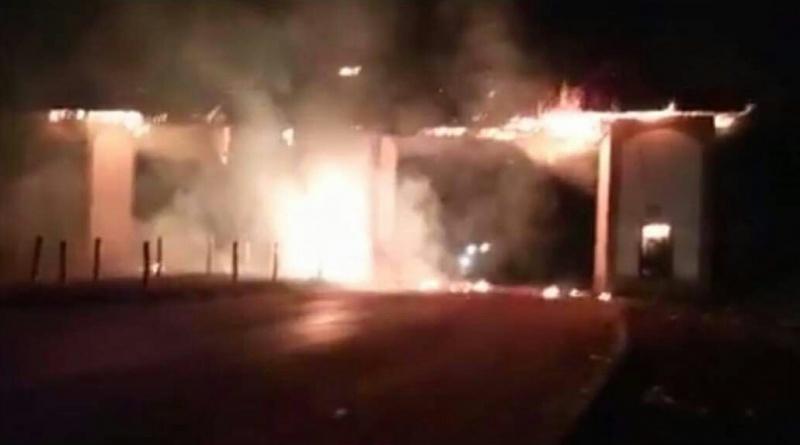 foumban gateway on fire
