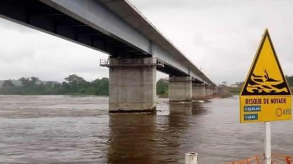 Ntui bridge over river sanaga