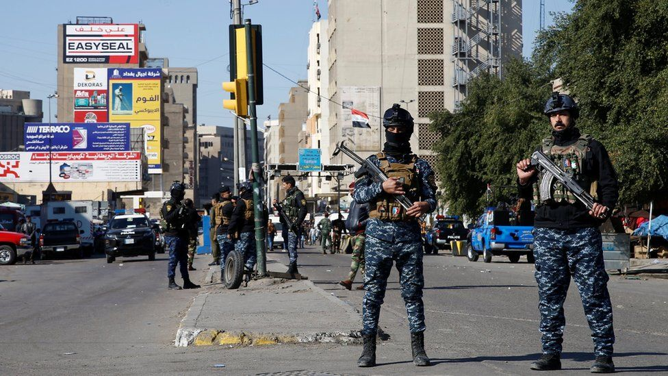 Security forces on Baghdad bombing