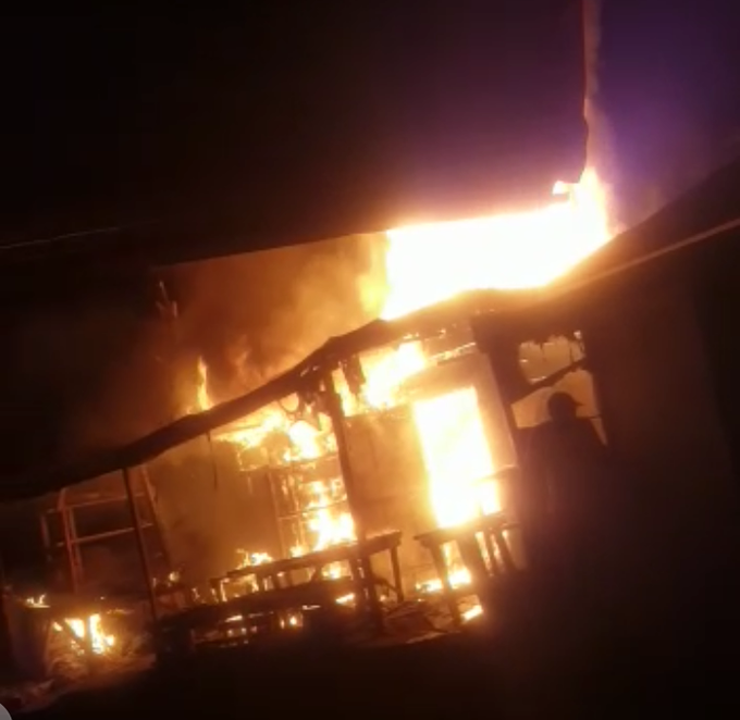 Fire consumes Nkwen Market