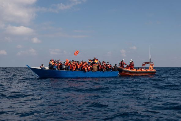 Rescued migrants/Libya