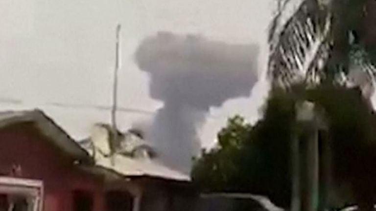 Equatorial Guinea explosion