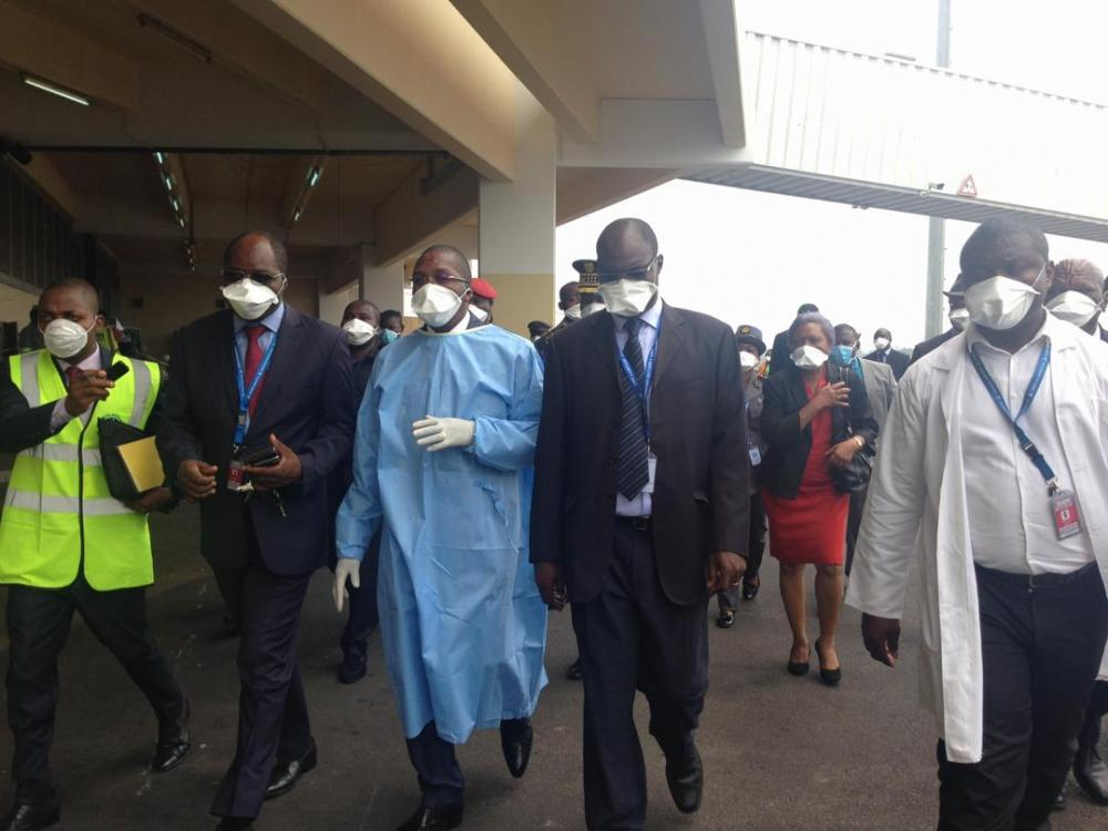 Cameroon Health Minister inspecting Airport measures against COVID-19